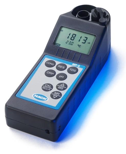 HACH - Multiparámetro Portátil MP-6p (pH, EC, TDS, ORP, resistividad y temperatura)