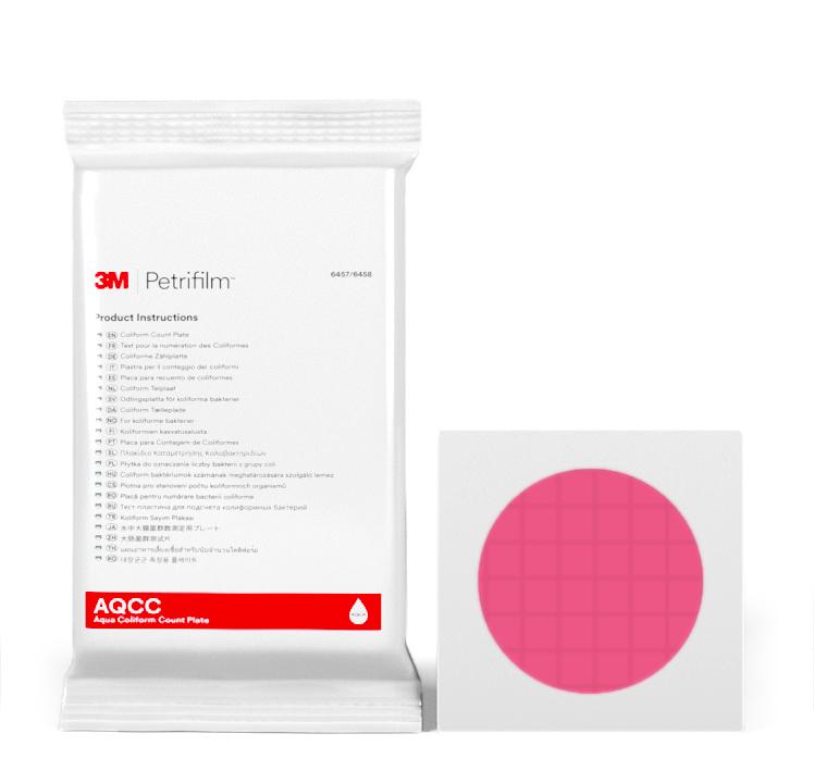 Placas Petrifilm™ Aqua para Recuento de Coliformes