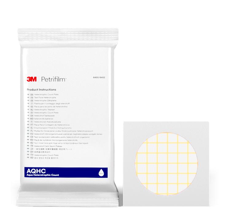 Placas Petrifilm™ Aqua para Recuento de Heterotróficos