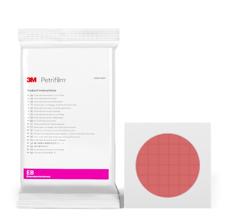 Placas Petrifilm™ para Recuento de Enterobacterias