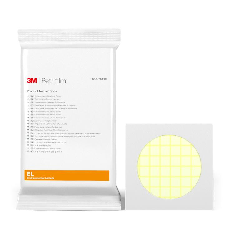 Placas Petrifilm™ para Detección de Listeria Ambiental