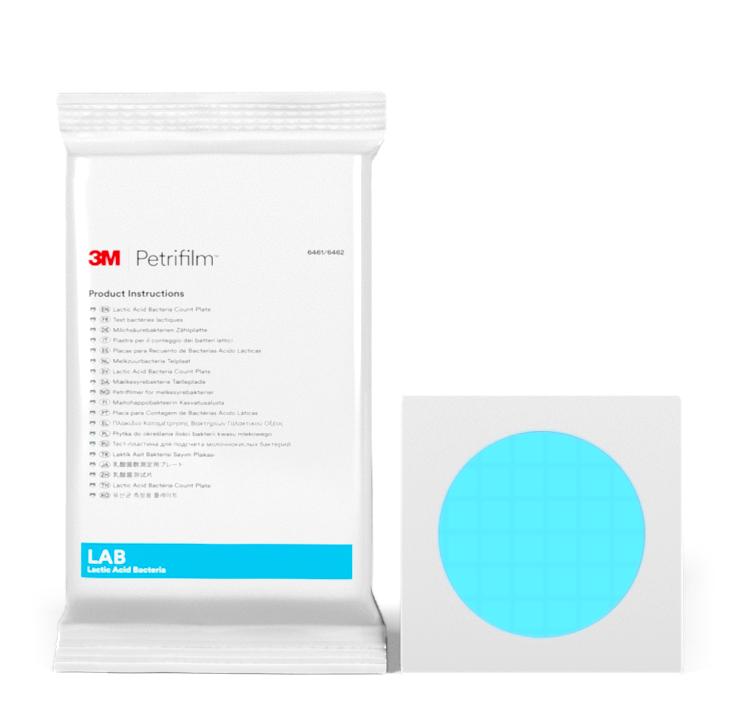 Placas Petrifilm™ para Recuento de bacterias ácido lácticas